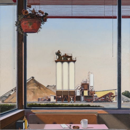 JOHN MOORE (b. 1941), Vacationland, 2019. Oil on canvas, 45 x 36 in.