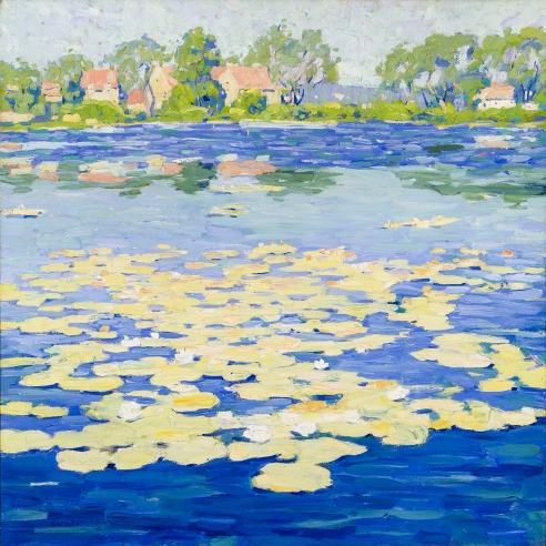 Jane Peterson, Niles Pond, Painted about 1916-20, Oil on canvas, 32 x 32 in.