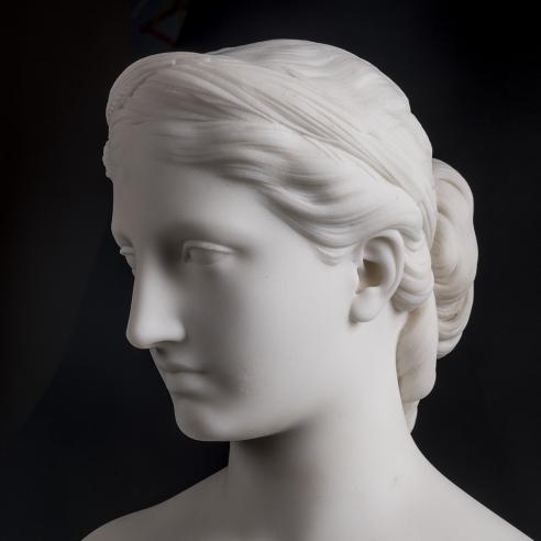 HIRAM POWERS (1805–1873), Proserpine, 1849. Marble, 15 in. high x 9 1/2 in. wide x 6 in. deep (detail).