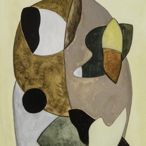 "GEORGE L. K. MORRIS (1905–1975), ""Composition No. 2,"" 1938. Gouache on paper, 18 1/2 x 13 1/4 in. (detail)."