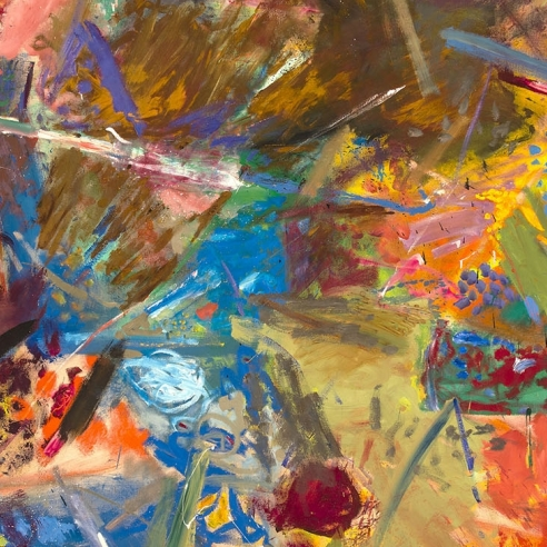a colorful abstract expressionist painting by Robert Natkin