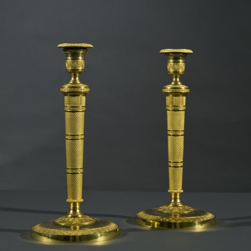 Pair Candlesticks in the Restauration Taste