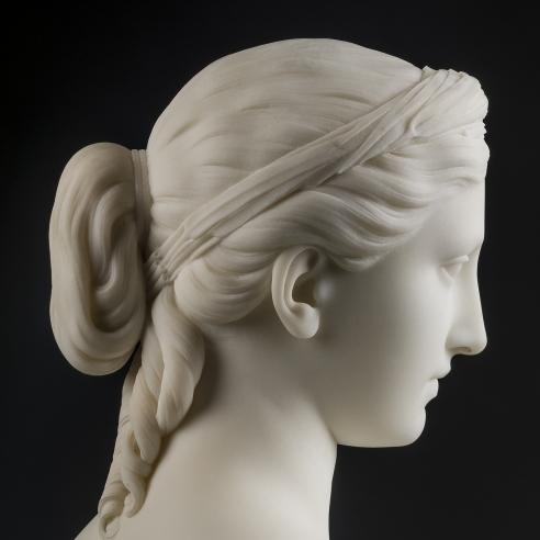 HIRAM POWERS (1805–1873), Proserpine, 1849. Marble, 15 1/2 in. high (detail).