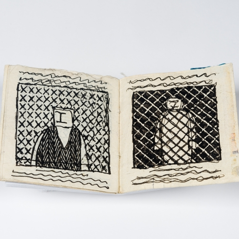 a group of 11 handmade books by self-taught artist James Castle