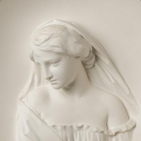 ERASTUS DOW PALMER (1817–1904), Sappho. Plaster, 15 in. diameter. Modeled circa 1858 (detail).