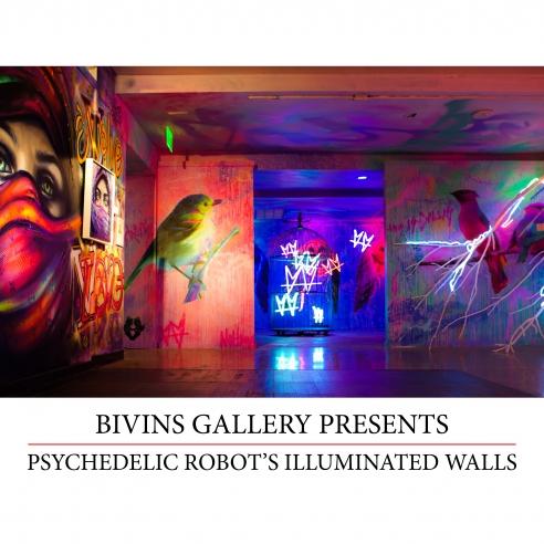 Psychedelic Robot's Illuminated Walls