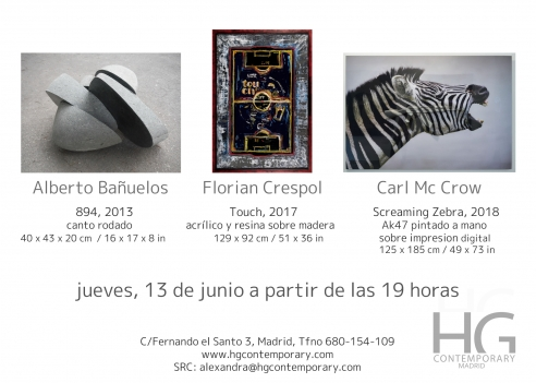 HG CONTEMPORARY MADRID presents: McCrow, Alberto Bañuelos & Florian Crespol