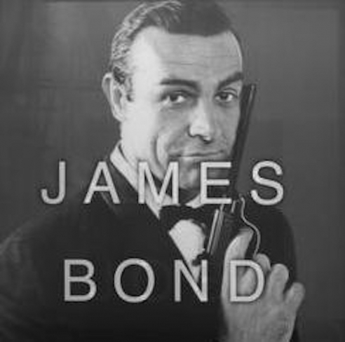 James Bond from Anagrams by Massimo Agostinelli at Hg Contemporary Art Gallery