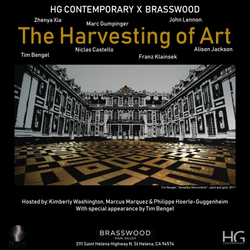 Invitation for The Harvesting of Art at Hg Contemporary art gallery in Napa Valley