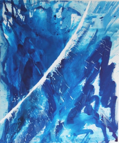 Painting in Mccreedy-Blue at Hoerle-Guggenheim Contemporary