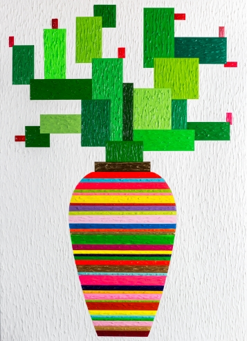 Painting of a Cactus at Zhenya Xia Solo Exhibition