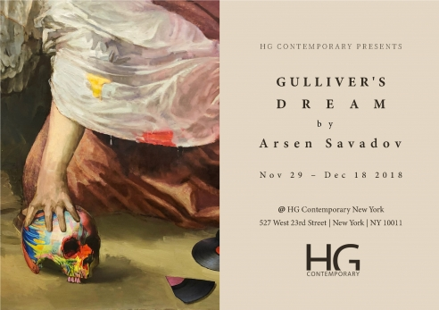 Invitation for Gulliver's Dream by Arsen Savadov at Hg Contemporary