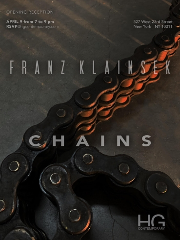 Invitation for Chains by Franz Klainsek at Hg Contemporary Art Gallery