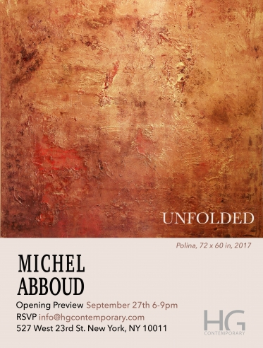 Invitation to Unfolded by Michel Aboud at Hg Contemporary Art Gallery