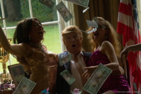 Image of Trump Look-alike and women from Private by Alison Jackson at Hg Contemporary Art gallery