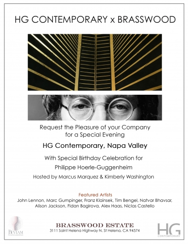 Invitation for Napa Valley Inauguration at Hoerle-Guggenheim Contemporary art gallery