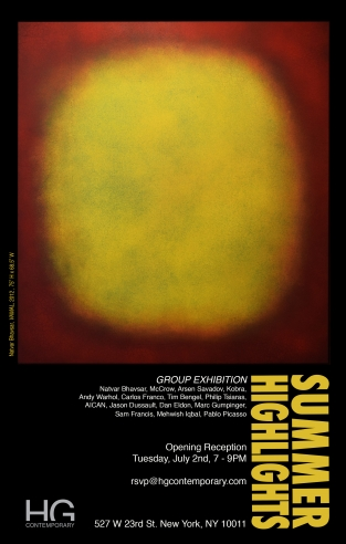 Summer Highlights exhibition at Hg Contemporary Chelsea, Philippe Hoerle-Guggenheim