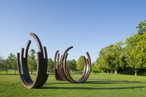 Bernar Venet Sculpture Garden at Oyster Creek in Sugar Land, TX