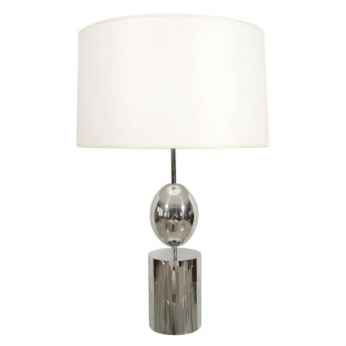 Polished Chrome Ovoid Form Lamp