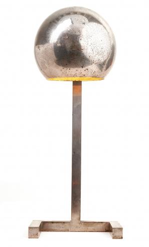 Francis Paul Nickel Plated Bauhaus Style Table Lamp