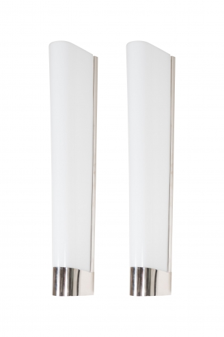 Pair of White Acrylic Wall Sconces