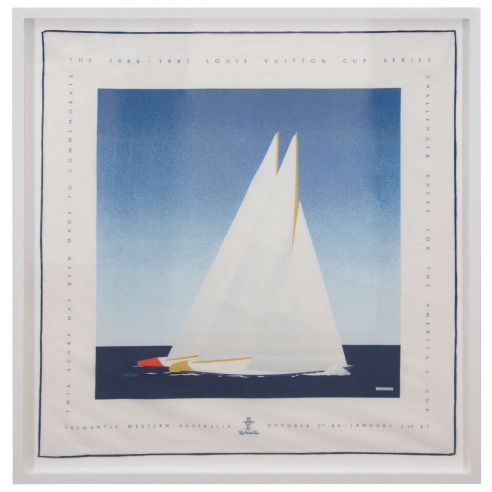 Louis Vuitton Limited Edition Vuitton Cup Series Silk Scarf