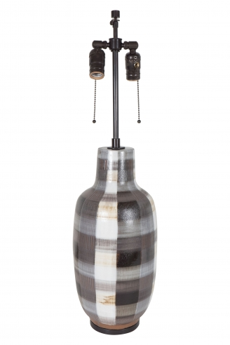 American Ceramic Plaid Lamp