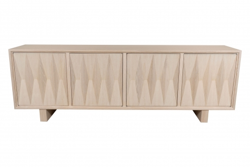 Cerused Oak Sculpted Front Sideboard by Appel Modern