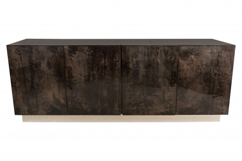 Aldo Tura Grey Dyed Parchment Sideboard