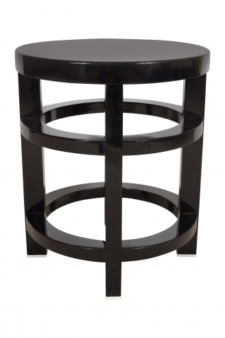 Thonet Black Lacquer Stool/Table