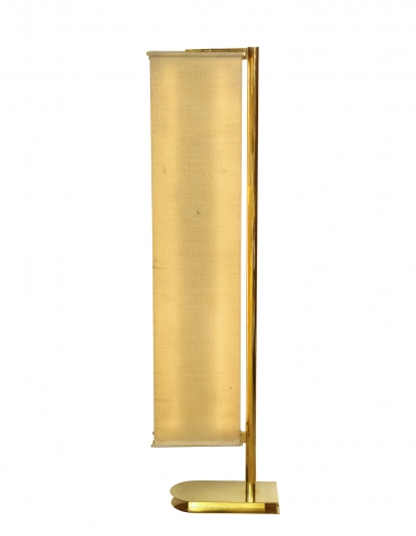 Floor Lamp with linen panel shades by Pietro Chiesa for Fontana Arte