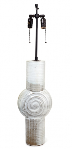 Ceramic Tall White French Lamp
