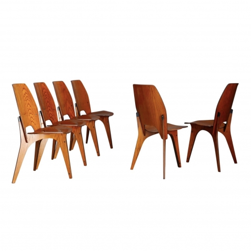 Eugenio Gerli set of 6 chairs for Tecno