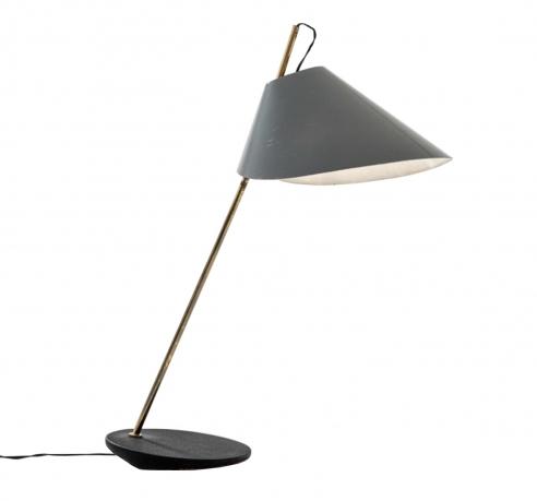 Task / Desk lamp with black shade by Luigi Caccia Dominioni for Azucena