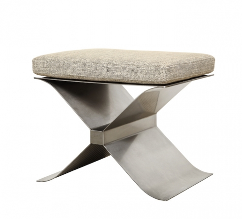 """Stainless Steel """"X"""" Stool by Francois Monnet for Kappa"""