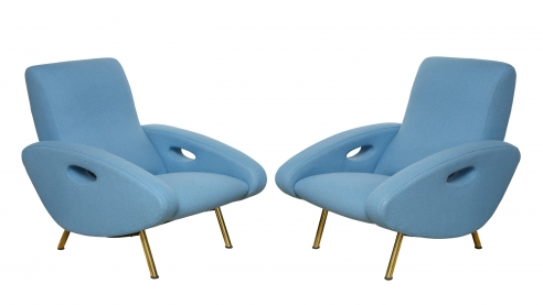 Pair of Armchairs by Francois Letourneur