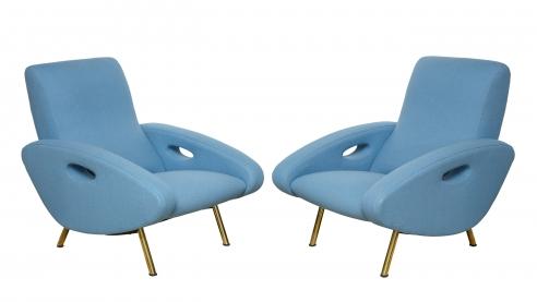 Pair of Armchairs by Francois Letourneur