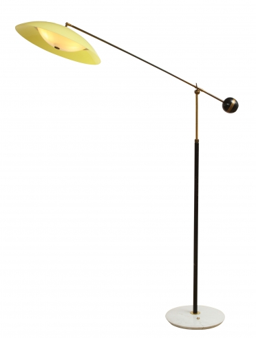 Stilux floor lamp with yellow shade