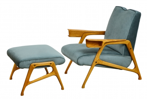 Armchair & Ottoman by Augusto Romano for Cassina
