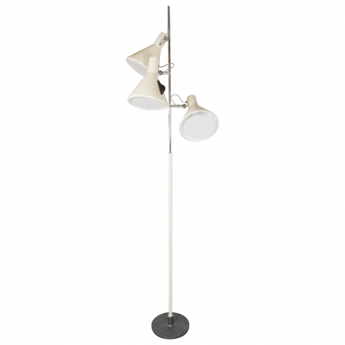 Early Stilnovo Floor Lamp in Cream with Three Lights
