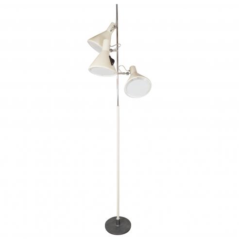 Early Stilnovo Floor Lamp in Cream with Three Lights