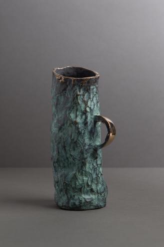 Jean Grisoni Bronze 'Aqua' Vase with Handle