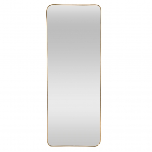 Modernist Brass Framed Mirror