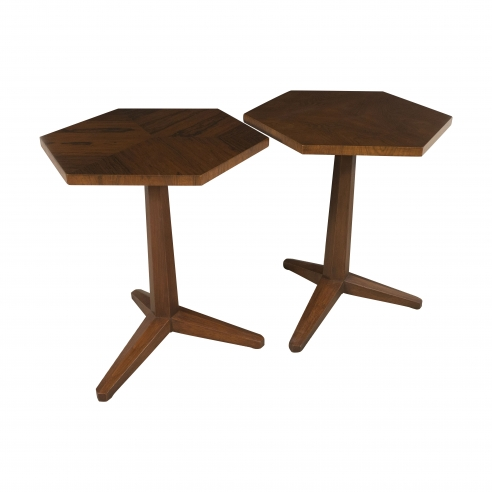 Pair of Pedestal Tables by Frank Lloyd Wright for Heritage