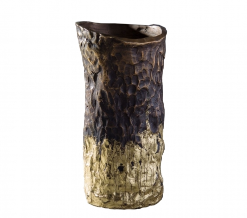 Jean Grisoni 'Pietra' White Gold Finish Vase