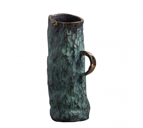 Jean Grisoni Bronze 'Aqua' Vase with Handle