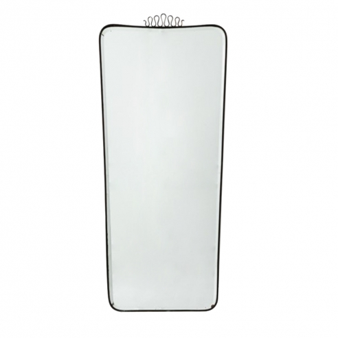 Wall mirror Ground and silvered crystal, brass