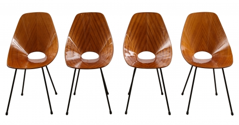 Set of four Medea chairs by Vittorio Nobili for Fratelli Tagliabue