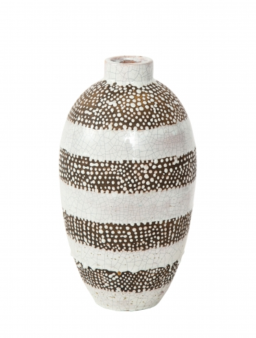 Primavera vase with textured bands