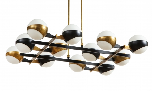 Stilnovo 12 globe chandelier